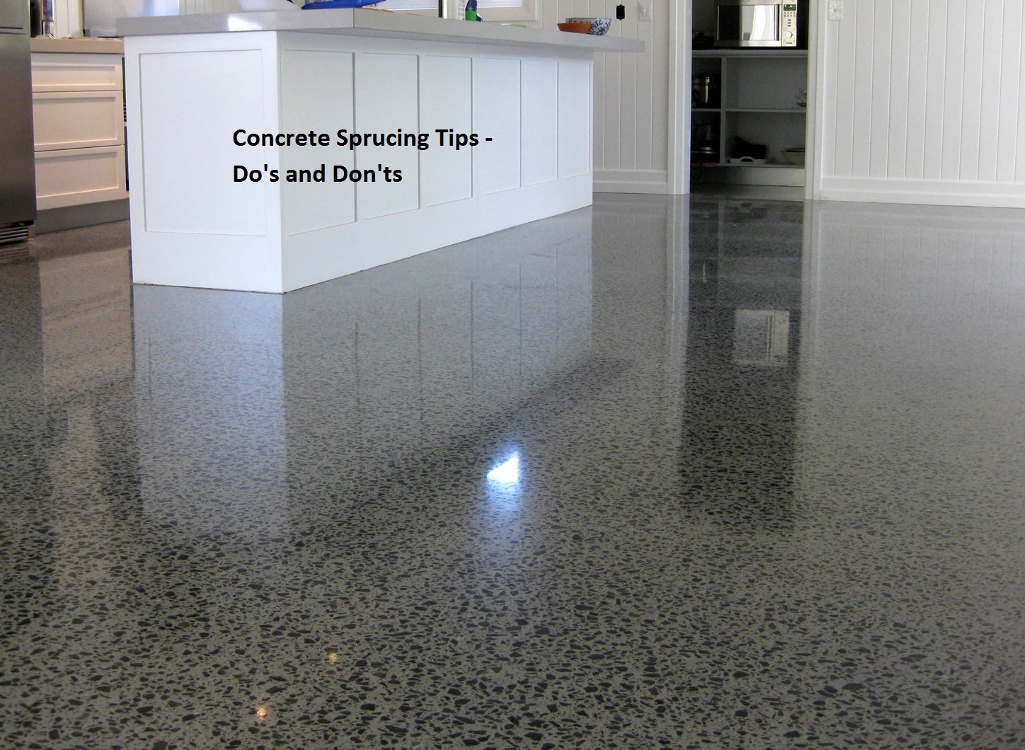Concrete sprucing tips do 39 s and don 39 ts floor sanding for Concrete advice
