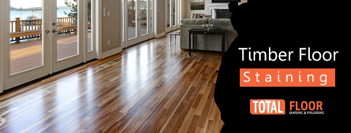 timber floor staining Melbourne