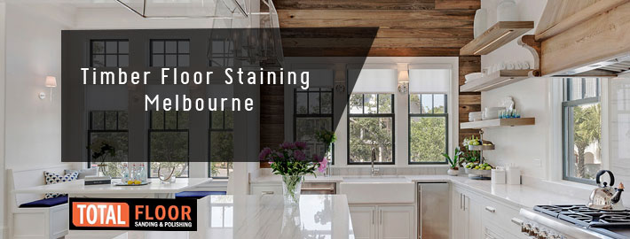 timber floor staining in Melbourne