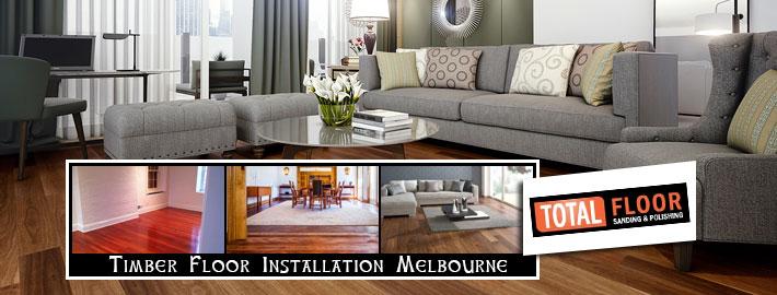 timber floor installation in Melbourne